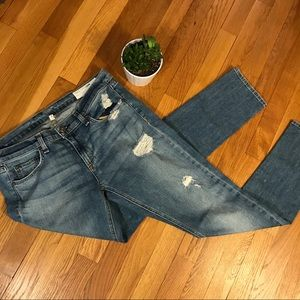 Rag & Bone Dre Cut Boyfriend Jeans distressed